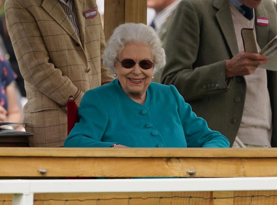 Queen Elizabeth II at the Royal Windsor Horse Show, Windsor. Picture date: Thursday July 1, 2021. (Photo by Steve Parsons/PA Images via Getty Images)