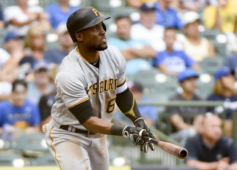 Pirates outfielder Starling Marte was suspended for 80 games for a PED violation. (AP)
