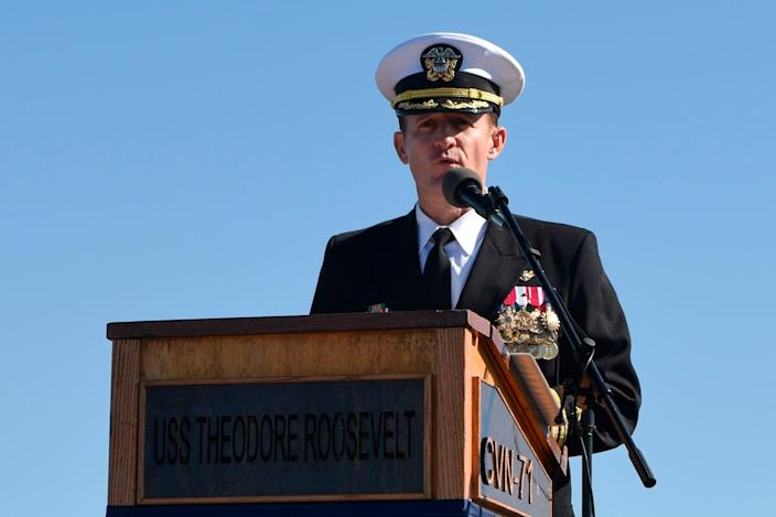 Capt. Brett Crozier was fired and insulted by the Navy secretary after he called for help to fight coronavirus aboard the aircraft carrier he commanded.