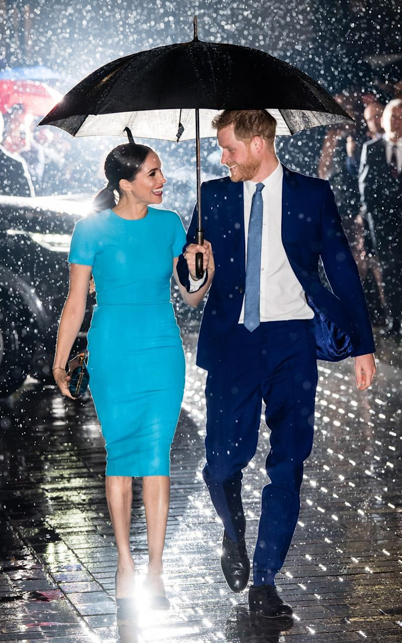 Meghan and Harry at the Endeavour Awards in March - Wireimage