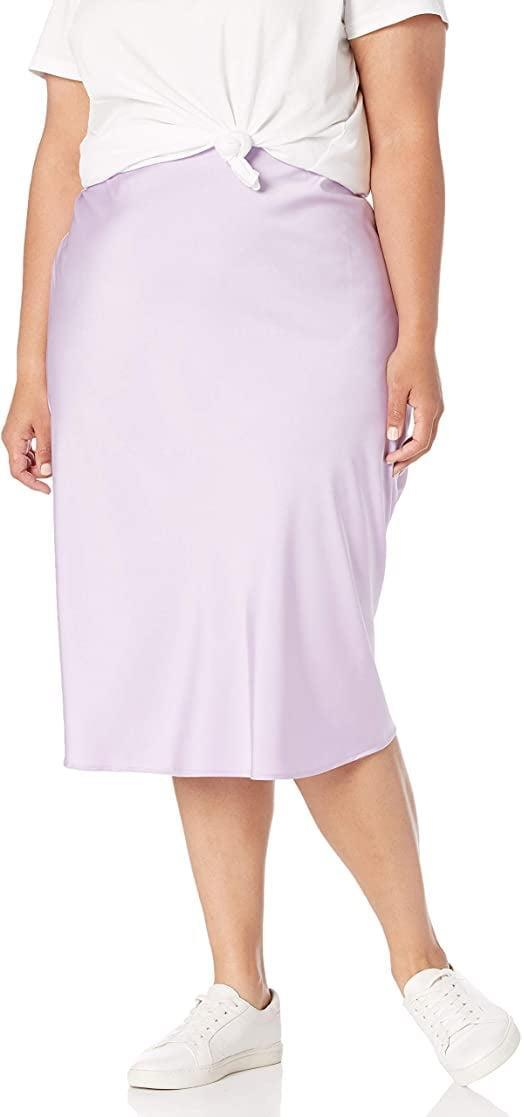 <p>The lavender shade of this <span>The Drop Maya Silky Slip Skirt</span> ($45) is gorgeous.</p>