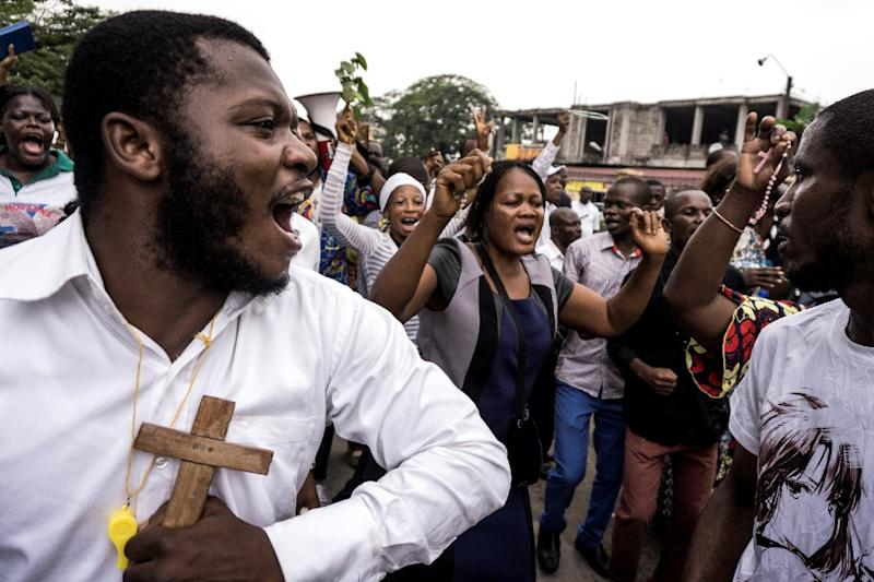 The mass rally on December 31, which was organised by the Catholic church, called for DRC President Joseph Kabila to stand down (AFP Photo/John WESSELS)