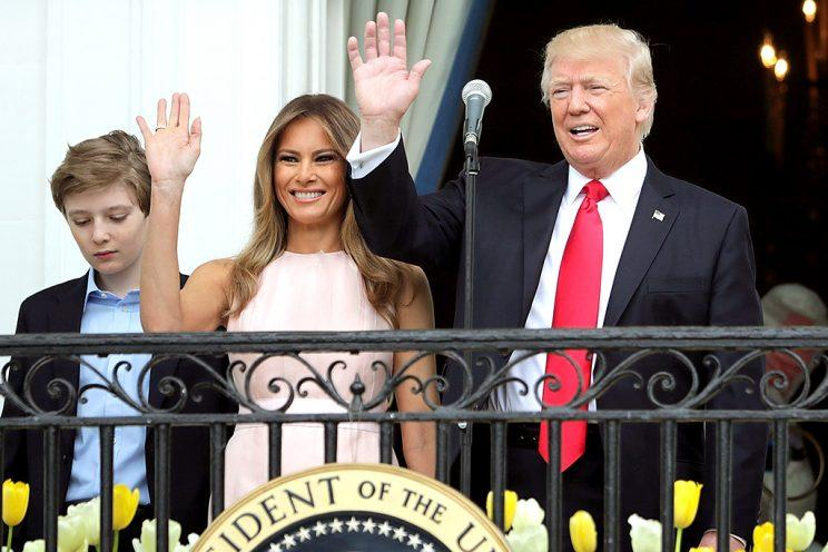 President Trump and first lady Melania Trump attend the Easter Egg Roll at the White House.