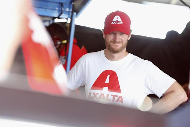 Dale Earnhardt Jr. came to spend time with his team at Watkins Glen on Friday (Getty).