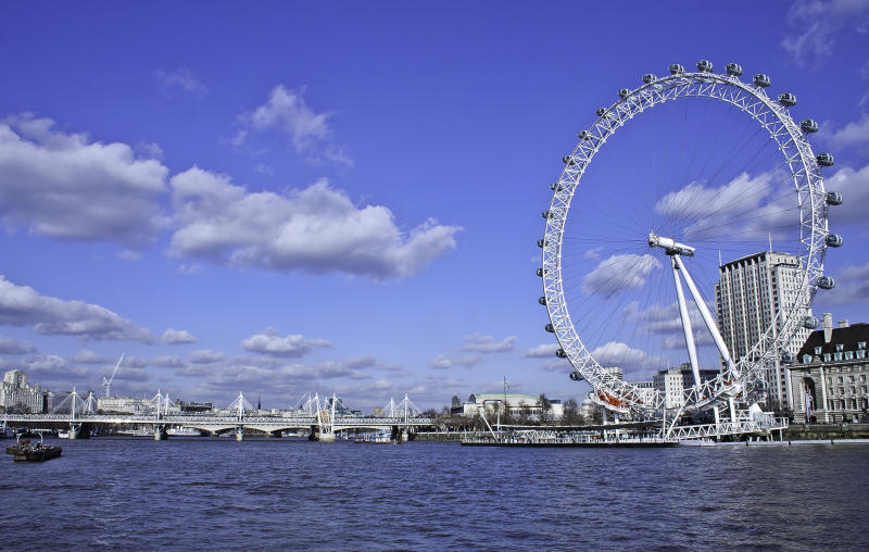 London ferry wheel.