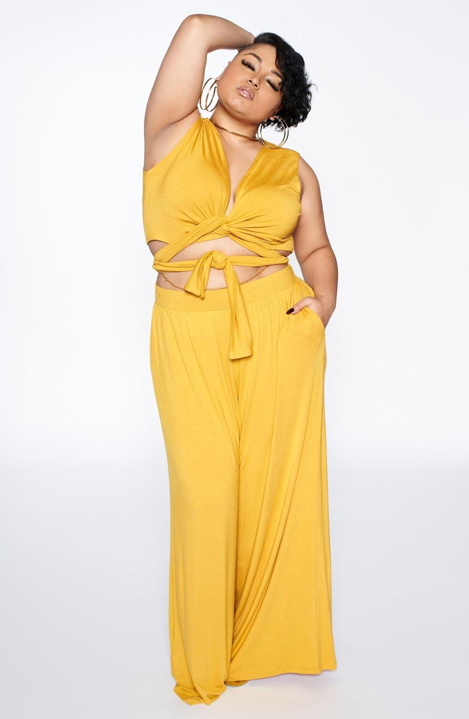 <p>Take this <span>Zellie For She Vacation Convertible Wrap Crop Top</span> ($59 - $69) on your next vacation, and get ready to be the shine wherever you go.</p>