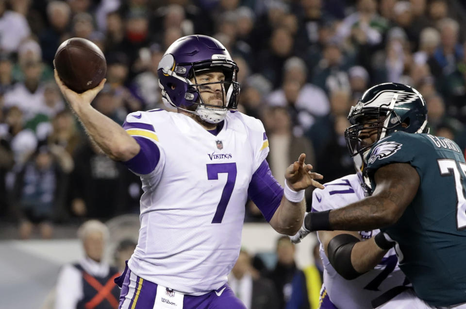 Case Keenum is reportedly leaving Minnesota to play with the Denver Broncos. (AP)