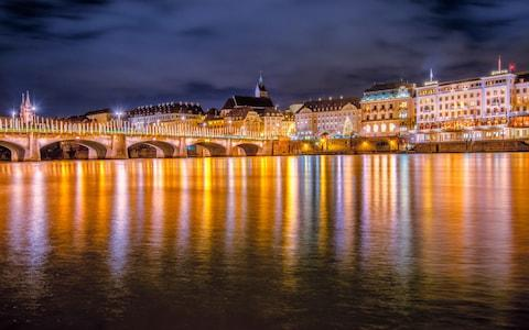 Lights on the river bank at Basel - Credit: iStock