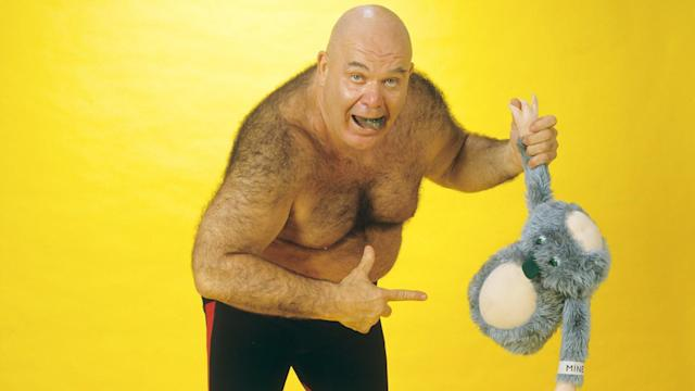"WWE Hall of Famer George ""The Animal"" Steele died on Thursday at the age of 79. (Courtesy of WWE)"