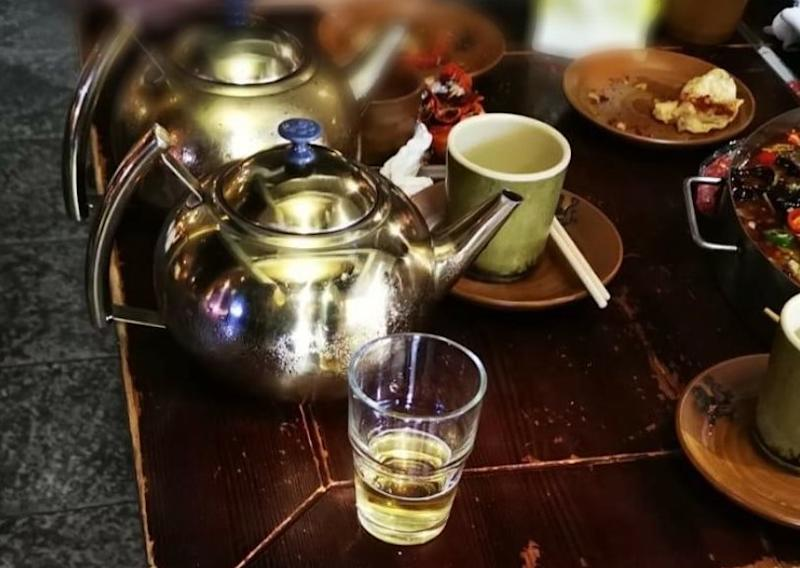 An Orchard Road F&B outlet was caught serving beer in a teapot after 10.30pm. (PHOTO: Ministry of Sustainability and the Environment)