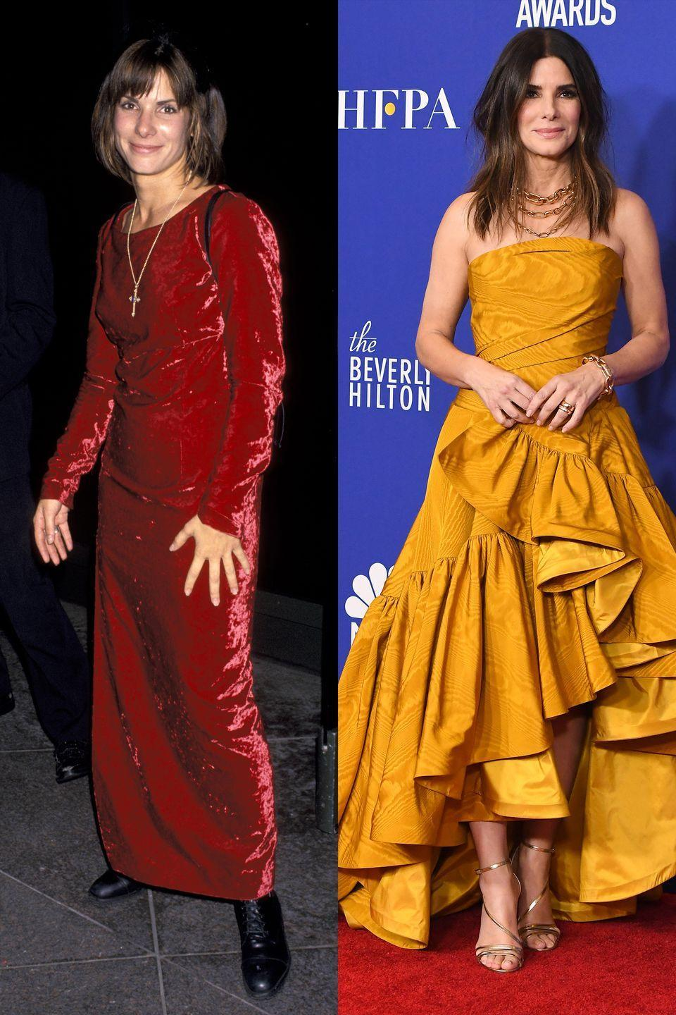<p>Sandra's clearly always been a fan of bold colors. </p>