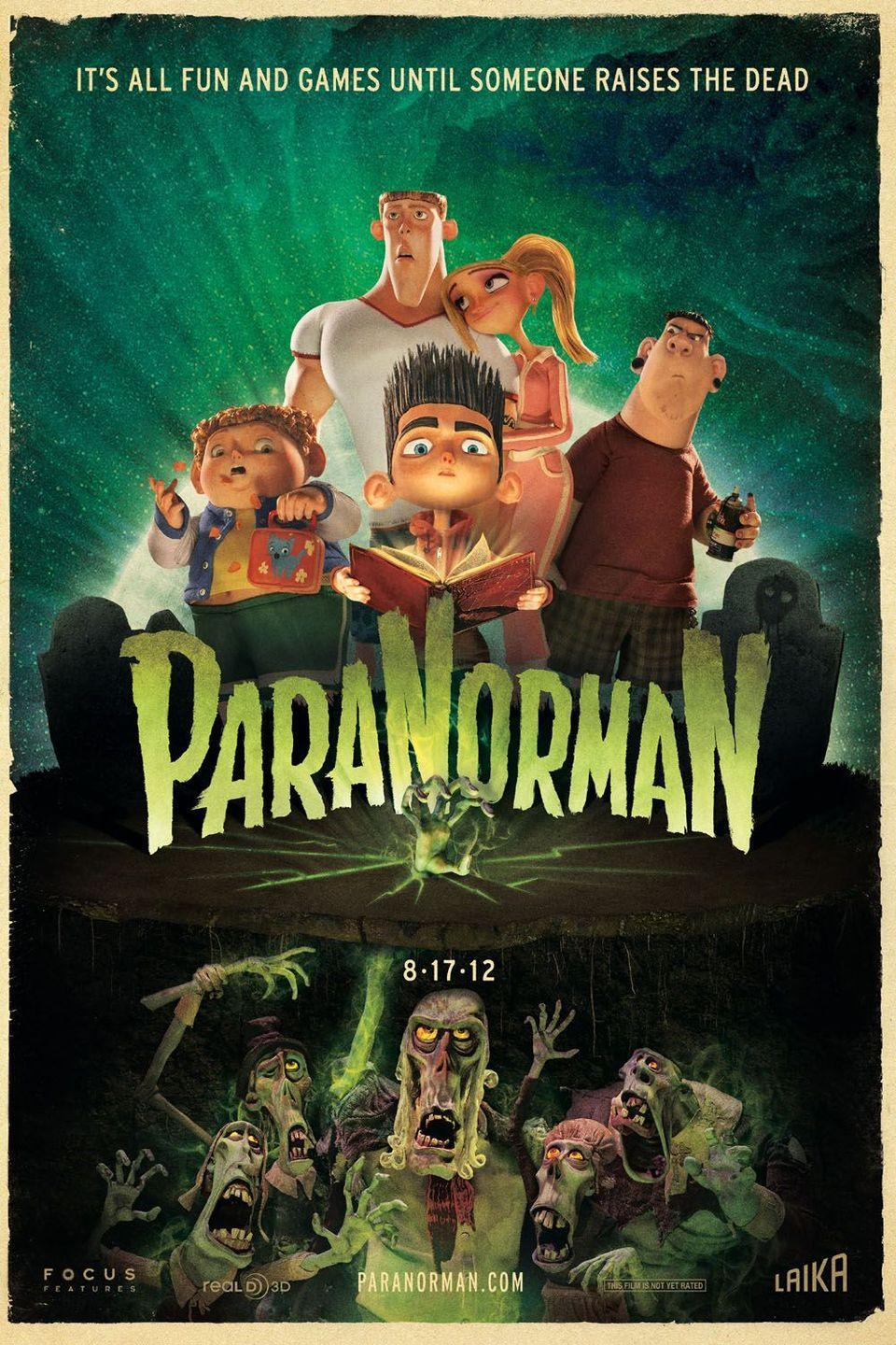 "<p>Looking for a kid-friendly zombie film? You (and the entire family) will love <em>ParaNorman</em>, a stop-motion <a href=""https://www.goodhousekeeping.com/life/parenting/g23282475/best-animated-movies/"" rel=""nofollow noopener"" target=""_blank"" data-ylk=""slk:animated movie"" class=""link rapid-noclick-resp"">animated movie</a> that follows a young boy who must use his paranormal abilities to save his small town from — you guessed it — zombies. </p><p><a class=""link rapid-noclick-resp"" href=""https://www.amazon.com/gp/video/detail/B0891R52TG/ref=atv_dl_rdr?tag=syn-yahoo-20&ascsubtag=%5Bartid%7C10055.g.33546030%5Bsrc%7Cyahoo-us"" rel=""nofollow noopener"" target=""_blank"" data-ylk=""slk:WATCH ON AMAZON"">WATCH ON AMAZON</a></p><p><strong>RELATED: </strong><a href=""https://www.goodhousekeeping.com/holidays/halloween-ideas/g2661/halloween-movies/"" rel=""nofollow noopener"" target=""_blank"" data-ylk=""slk:40 Kids' Halloween Movies That Won't Keep Them up All Night"" class=""link rapid-noclick-resp"">40 Kids' Halloween Movies That Won't Keep Them up All Night</a></p>"