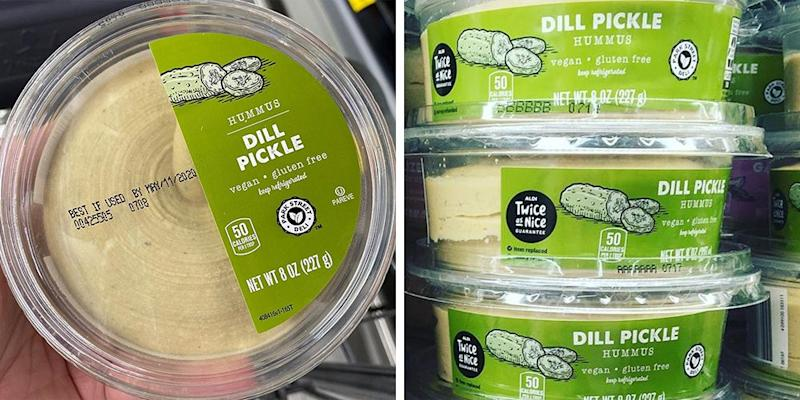 Aldi Is Stocked With Dill Pickle Hummus