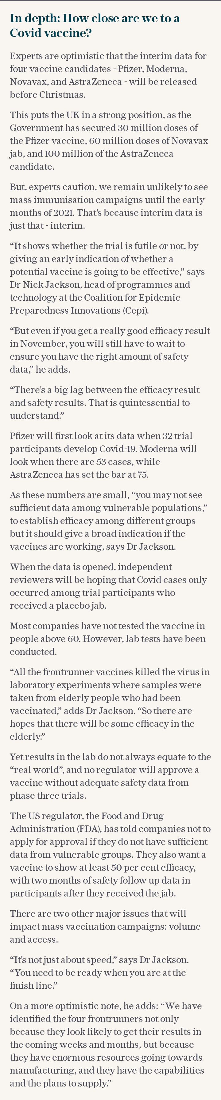 How close are we to a Covid vaccine?