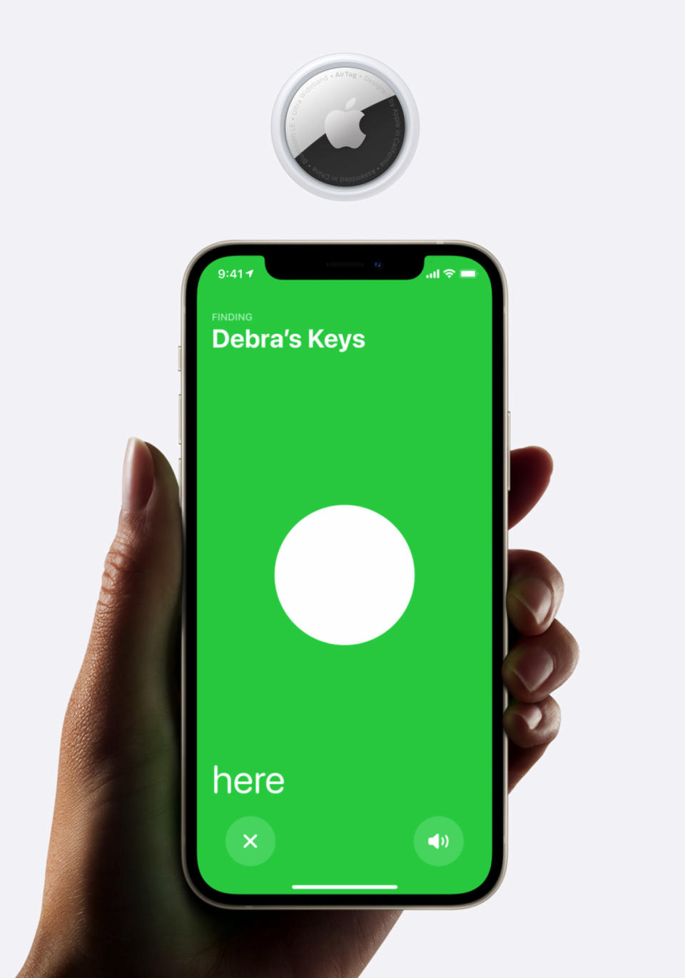 <p>The new Apple AirTag that works with Find My app.</p>
