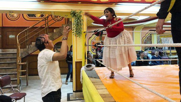 PHOTO: Like professional wrestling in the U.S. or Mexico's lucha libre, Bolivian wrestling shows are full of drama. (Sarah Hucal/ABC News)