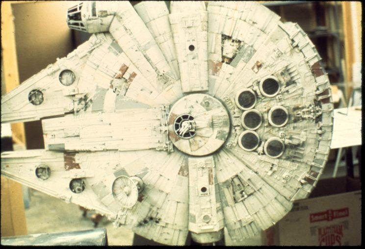 Lucasfilm provided Kenner's design team with detailed photos of movie-used models, including the original <i>Falcon</i>