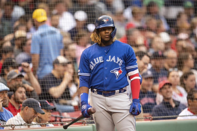 Vladimir Guerrero Jr.'s rookie season hasn't been quite up to expectations. (Photo by Billie Weiss/Boston Red Sox/Getty Images)