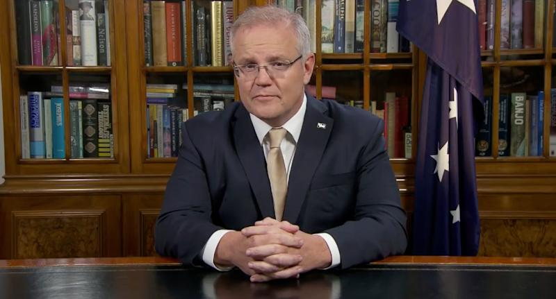 Scott Morrison did not make any announcements during the brief TV address.