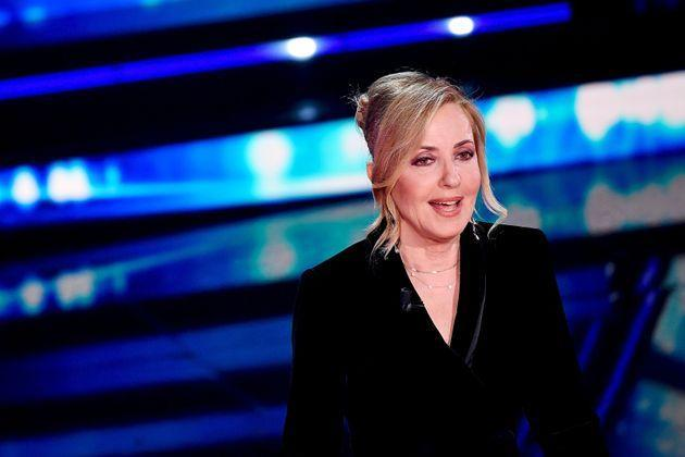SANREMO, ITALY - MARCH 05: Barbara Palombelli is seen on stage during the 71th Sanremo Music Festival 2021 at Teatro Ariston on March 05, 2021 in Sanremo, Italy. (Photo by Jacopo Raule / Daniele Venturelli/Getty Images) (Photo: Jacopo Raule / Daniele Venturelli via Getty Images)