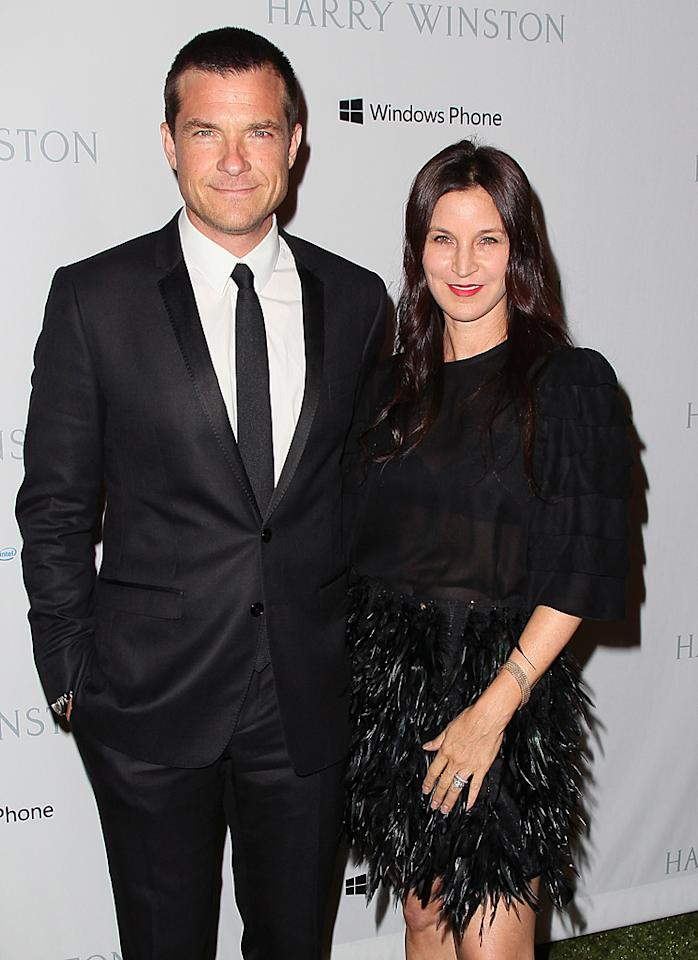 Jason Bateman and his wife Amanda Anka both looked sleek in black ensembles. What do you think of Amanda's feathery, ruffled ensemble? (11/3/12)