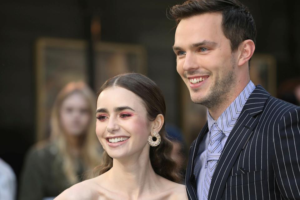 Photo by: KGC-161/STAR MAX/IPx 2019 4/29/19 Lily Collins and Nicholas Hoult at the premiere of Tolkien in London, England.