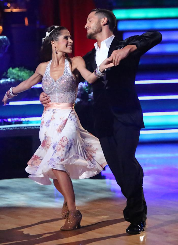 """Kelly Monaco and Valentin Chmerkovskiy perform on """"Dancing With the Stars: All-Stars."""""""