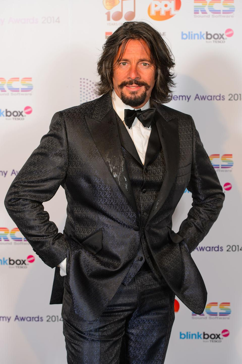 Laurence Llewelyn Bowen arriving at the Radio Academy Awards 2014, at the Grosvenor House Hotel, in central London.