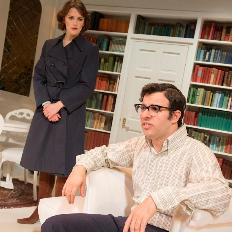 Charlotte Ritchie and Simon Bird in The Philanthropist - Credit: Alastair Muir