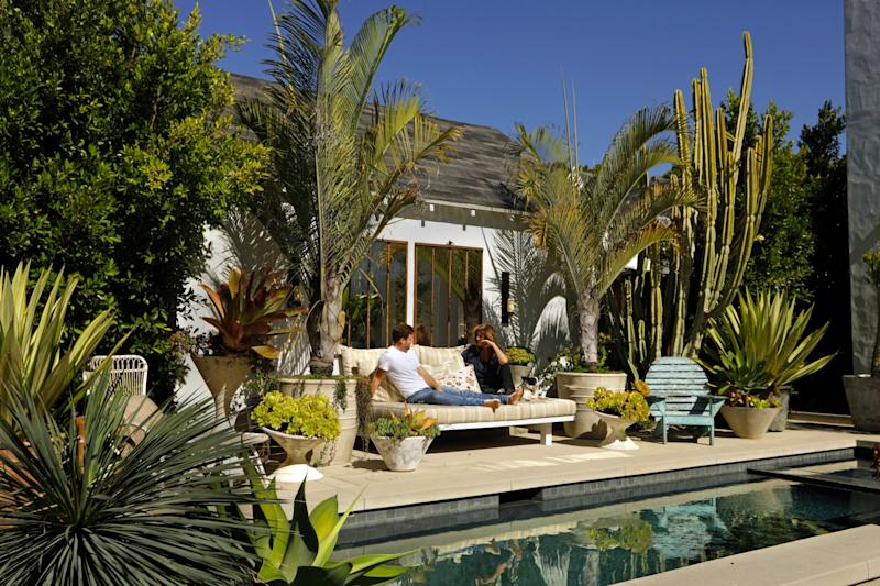 Celebrity interior and textile designer Kathryn M. Ireland is shown at her home in Santa Monica.
