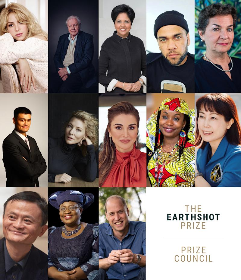 The full Earthshot Prize council has been confirmed, and includes Sir David Attenborough. (Royal Foundation)
