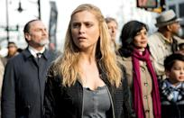 """<p><b>This Season's Theme: </b> """"When you get a death sentence, how do you react to it?"""" is the question posed by showrunner Jason Rothenberg. <br><br><b>Where We Left Off: </b> Clarke (Eliza Taylor) took the Flame herself to enter the City of Light. Meanwhile, Bellamy (Bob Morley) and Octavia (Marie Avgeropoulos) fought to keep her body safe from the AI-controlled hordes, and Raven (Lindsey Morgan) hacked into ALIE's system to help Clarke. The latter managed to shut down ALIE with the aid of dead lover Lexa (Alycia Debnam-Carey), but learned that most of Earth's nuclear reactors were melting down. <br><br><b>Coming Up: </b> """"In the premiere, our characters are forced to deal with the immediate fallout of the termination of the City of Light,"""" Rothenberg says. """"Now they're suddenly thrust back into the real world with all their pain."""" Old grudges remain between Skaikru and the Grounders, and also among the Grounders themselves. But they will have to deal with the world-ending threat hanging over them (literally, the atmosphere is on fire). And if they can't stop it, how do they survive? """"How many lifeboats are there on the Titanic?"""" posits Rothenberg. """"There aren't enough."""" <br><br><b>My Heart Will Go On: </b> Lexa fans were heartbroken by her death, and Clarke will continue to mourn her """"probably forever,"""" says Rothenberg. But """"that doesn't mean she won't move on. I know Lexa would want her to… She's an 18-year-old girl and you can assume she'll love again."""" <i>— KW</i> <br><br>(Credit: Diyah Pera/The CW) </p>"""