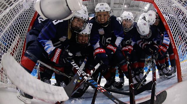 Monday's Olympic Digest: U.S. Women's Hockey Team Earns Finals Spot; Men Must Win or Go Home