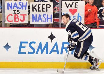 Columbus fans hit the road to show their support for Rick Nash prior to Sunday's game in Pittsburgh