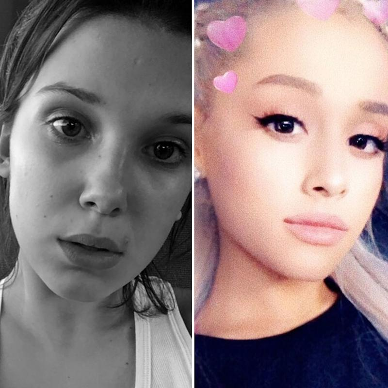 Ariana Grande Comments On Instagram Of Millie Bobby Brown And Jacob