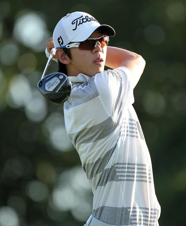 MEMPHIS, TN - JUNE 07:  Seung-Yul Noh of South Korea hits his tee shot on the par 4 9th hole during the first round of the FedEx St. Jude Classic at TPC Southwind on June 7, 2012 in Memphis, Tennessee.  (Photo by Andy Lyons/Getty Images)