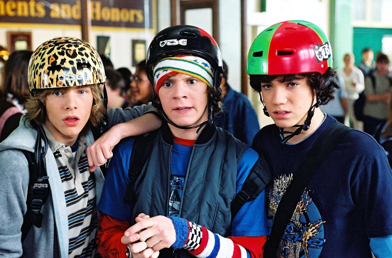 "<p>In one of his breakout roles, Peters plays a dorky skateboarder named Russell ""SpongeBob"" Hayes in the 2004 movie <b>Sleepover</b>. Yes, really.</p>"