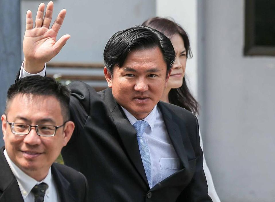 DAP assemblyman Paul Yong is seen at the Session Court in Ipoh November 13, 2019. — Picture by Farhan Najib