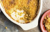 """<p>Yeah, traditional cornbread is a <em>must </em>during turkey day, but corn pudding is not to be overlooked. The hearty dish is similar to a casserole but maintains the sweet flavor of creamed corn. It's a tasty and <a href=""""https://www.thedailymeal.com/cook/quick-dinner-dishes-you-can-make-out-cans-gallery?referrer=yahoo&category=beauty_food&include_utm=1&utm_medium=referral&utm_source=yahoo&utm_campaign=feed"""" rel=""""nofollow noopener"""" target=""""_blank"""" data-ylk=""""slk:quick dish you can make out of cans"""" class=""""link rapid-noclick-resp"""">quick dish you can make out of cans</a>.</p> <p><a href=""""https://www.thedailymeal.com/recipes/chipotle-corn-pudding-recipe?referrer=yahoo&category=beauty_food&include_utm=1&utm_medium=referral&utm_source=yahoo&utm_campaign=feed"""" rel=""""nofollow noopener"""" target=""""_blank"""" data-ylk=""""slk:For the Chipotle Corn Pudding recipe, click here."""" class=""""link rapid-noclick-resp"""">For the Chipotle Corn Pudding recipe, click here.</a></p>"""