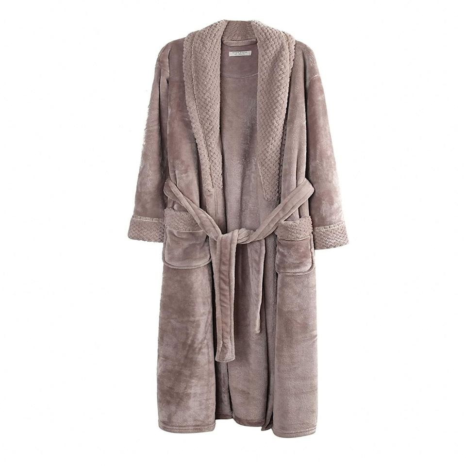 """Last but not least, swaddle yourself in a luxurious robe that Amazon reviewers compare to """"wearing the comfiest blanket,"""" which is all we could really ever ask for. $37, Amazon. <a href=""""https://www.amazon.com/Richie-House-Womens-Bathrobe-RH1591-D-XL/dp/B00XKDBEOA/ref=sr_1_13"""" rel=""""nofollow noopener"""" target=""""_blank"""" data-ylk=""""slk:Get it now!"""" class=""""link rapid-noclick-resp"""">Get it now!</a>"""