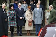 """<p>Not only is there tradition dictating what day the rest of the royals should arrive at Sandringham, but there's tradition to the order in which they show up too. Apparently, everyone who's invited to the super exclusive festivities is given a specific arrival slot, dictated by their <a href=""""https://www.walesonline.co.uk/whats-on/whats-on-news/how-royal-family-christmas-8212591"""" rel=""""nofollow noopener"""" target=""""_blank"""" data-ylk=""""slk:status within the family"""" class=""""link rapid-noclick-resp"""">status within the family</a>. The earlier you arrive, the less important you are. The most junior members show up first and senior members, like Prince Charles, Will, Kate, Harry and Meghan would be among the last to arrive. </p>"""