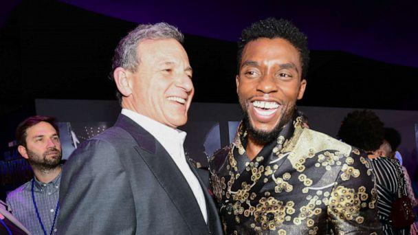 PHOTO: Chairman and CEO of the Walt Disney Company Bob Iger and actor Chadwick Boseman attend the premiere of Marvel's 'Black Panther' at Dolby Theatre on Jan. 29, 2018, in Hollywood, Calif. (Emma Mcintyre/Getty Images)