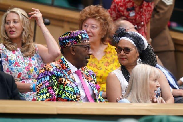 Derrick Evans, who goes by the better-known alter ego Mr Motivator, was in the royal box at Wimbledon