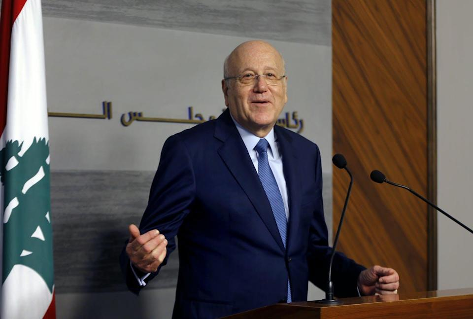 """<span class=""""caption"""">New Lebanese Prime Minister Najib Mikati faces several critical and cascading problems in his country.</span> <span class=""""attribution""""><span class=""""source"""">Bilal Hussein/AP/AAP</span></span>"""
