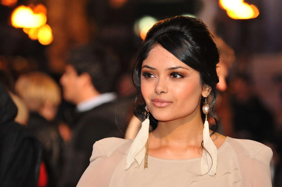 Afshan Azad, who stars as Padma Patil, arrives for the world premiere of Harry Potter and the Deathly Hallows.   (Photo by Ian Nicholson/PA Images via Getty Images)