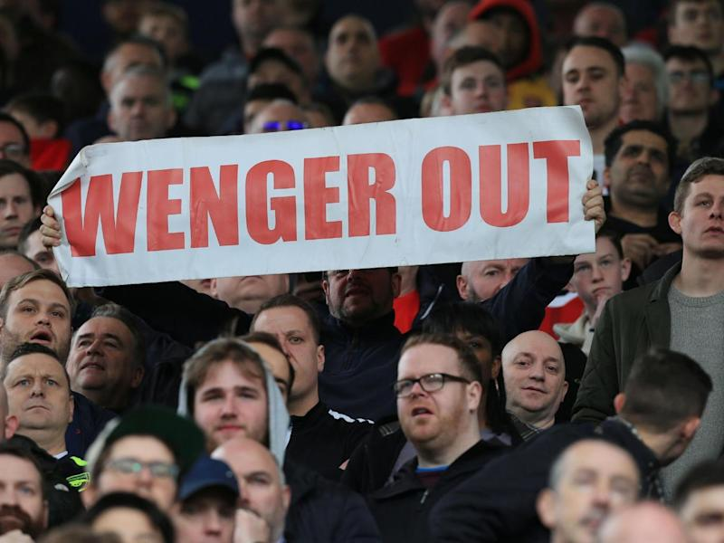Arsenal's fans protested throughout the defeat (Getty)
