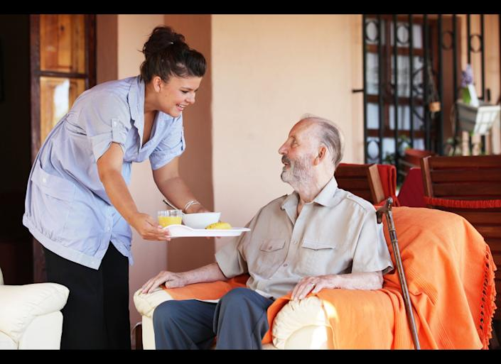 """One of the first decisions in choosing an elderly caregiver is deciding whether to <a href=""""http://www.caring.com/articles/hiring-independently-or-via-agency"""" target=""""_hplink"""">interview independent candidates or look to a caregiving agency</a>, according to Caring.com. If you choose the later, it's best to choose a leading national or regional chain that is well known for it's professionalism and training. Run through a caregiving checklist, such as The Caregiver Partnership's <a href=""""http://blog.caregiverpartnership.com/2011/03/how-to-choose-senior-home-care-agency.html"""" target=""""_hplink"""">10 important caregiver criteria</a>, which covers specific needs including language requirements, memory care, nutrition needs and transportation, or ask the <a href=""""http://blog.aarp.org/2012/07/11/dangerous-caregivers-few-agencies-screen-workers/"""" target=""""_hplink"""">10 crucial questions proposed by Lee Lindquist</a> of Northwestern Memorial Hospital."""