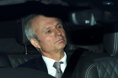 Britain's Minister for the Cabinet Office David Lidington is seen outside the Houses of Parliament in London