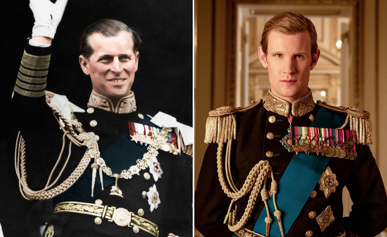 "<p><em><a href=""https://www.digitalspy.com/doctor-who/"" target=""_blank"">Doctor Who</a>'s</em> Matt Smith took on the role of Prince Philip in seasons one and two. The first episode of season one sees the Prince renounce his foreign titles as Prince Philip of Greece to marry Princess Elizabeth in a lavish ceremony in 1947.</p>"