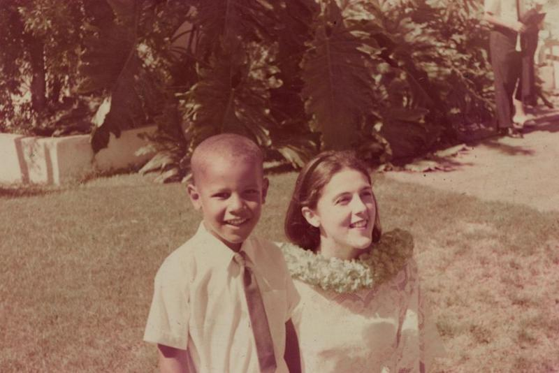 From left: former President Barack Obama with his mother, Ann Dunham, in Hawaii in the '60s | Courtesy The Obama Foundation